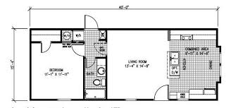 Superior Single Bedroom Mobile Home One 1 Homes Floor Plans Ideas 4 Strong