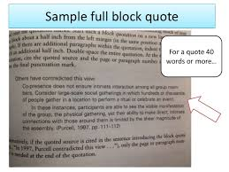 Block Quotes Apa Impressive Apa Long Quote Format Seatledavidjoelco