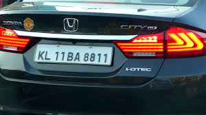 Honda City With Bmw Style Led Tail Lights Youtube