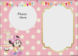 Free Minnie Mouse Birthday Invitations Free Editable Minnie Mouse Birthday Invitations Invitations