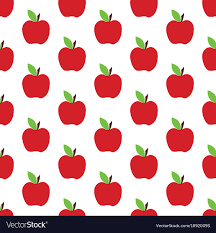 Apple Pattern Magnificent Apple Pattern On The White Background Royalty Free Vector