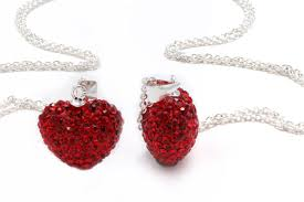 authentic ruby color heart shape crystals pendant only 6 96 shipped acadiana s thrifty mom