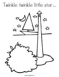 Small Picture Twinkle twinkle little star Coloring Page Twisty Noodle