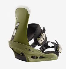 Brand New Mens 2020 Burton Freestyle Re Flex Snowboard Bindings Camp On Green