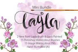 the font bundle com layla brush font by mr rabbit