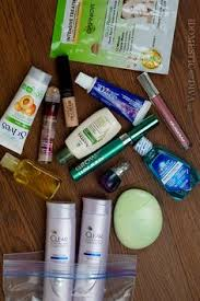 travel makeup tips what essentials to pack in your liquid bag for your carry
