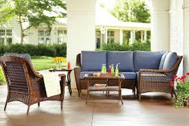 courtesy home depot hampton bay s spring haven collection patio set features woven wicker designs in a
