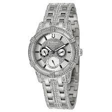 bulova crystal 96c109 men s watch watches bulova men s crystal watch