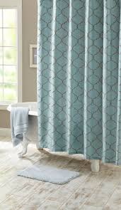 Aqua blue bathrooms are the best bathrooms! Try this Scalloped Trellis  Embroidered Fabric Shower Curtain