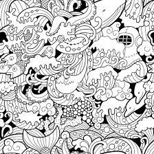 Black And White Mural Design Black White Drawn Cartoon Nautical Wall Mural Pattern