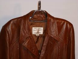 vintage 1970s grais angel skin cabretta leather jacket front close up view