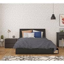 Nexera Zamora 3 Piece Bedroom Set, Ebony & White