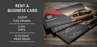 Rent A Car Business Card Template Free Woodbridgechevroletcom