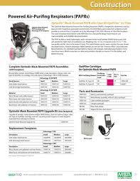 Msa Filter Cartridges Chart Msa 5555 77 Mc_constrcatalog By Industrial De Equipos De