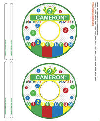 Avery 8942 Primary Colors Birthday Party Playlist Custom Cd Label