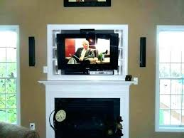 fireplace mounting hanging over ideal above install flat screen on brick tv directv screensaver