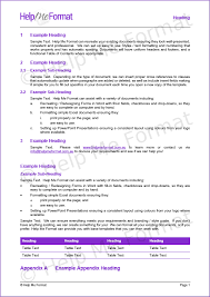 Example Word Documents Document Formatting Services Melbourne Document Formatting
