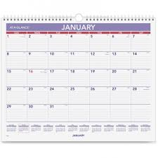 Year At A Glance Calendars At A Glance Pm828 Monthly Wall Calendar