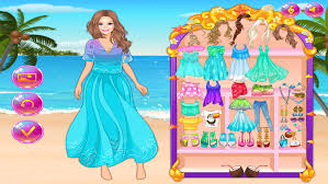 barbie beach dress sweetheart princess love makeup cinderella beauty diary s playing games