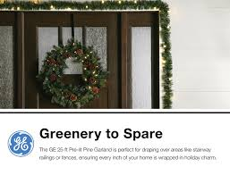 Garland With Lights Lowes Outdoor Pre Lit 25 Ft Pine Garland With With With Color Changing Led Lights Lights