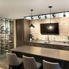 basement bar lighting ideas modern basement. Contemporary Basement Bar With Track Lighting Ideas For Small Spaces . Modern E