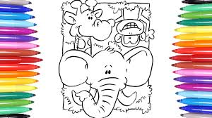 Small Picture Animals Coloring Pages Learn How to Color Monkey Elephant and
