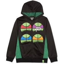 Nickelodeon Size Chart Nickelodeon Boys Tmnt Fleece Hoodie Sweatshirt