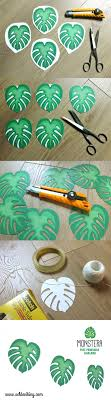 MONSTERA free printable More (luau party decorations)