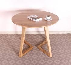 small round coffee tables us imports of pure solid wood white oak coffee table simple and small round