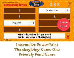 Thanksgiving Friendly Feud Game One Interactive Powerpoint Etsy