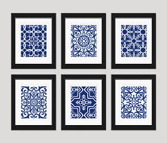 navy blue art blue white wall art home decor set by inkandnectar add to black and white photo wall for color  on blue and white wall art with navy blue art blue white wall art home decor set by inkandnectar