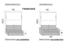 Sedie Pieghevoli Francesi : Cubo letto a scomparsa con divano matrimoniale o francese