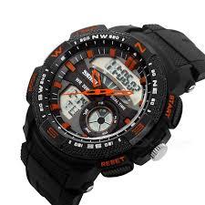skmei men s waterproof analog digital sports watch black skmei men s waterproof analog digital sports watch black orange