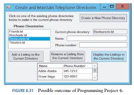 Telephone Listing Solved Telephone Directories Write A Program To Create And Mai