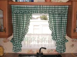 image of country kitchen window treatment ideas