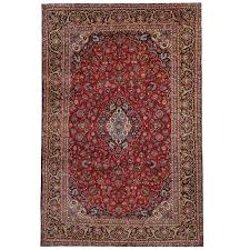 vintage persian rugs red rug from kashan for