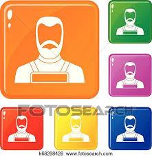 Blacksmith Icons Set Vector Color Clip Art