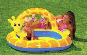 intex kids giraffe baby bathtub inflatable children s beach swimming pool