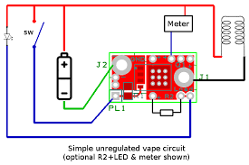 basic mosfet wiring page 12 vaping underground forums an i ve wired the optional voltmeter in parallel the vape coil instead of to the switch so you get the true voltage across the coil and the meter powers