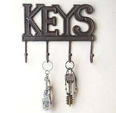 wall mount key holder rack keys home entryway 3 hooks decorative new mounted box
