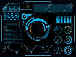 Vector Image Format In Ui Design Stock Vector Futuristic User Interface Interface Design