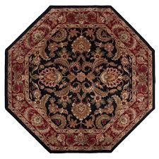 artistic weavers albion black 8 ft x 8 ft octagon area rug