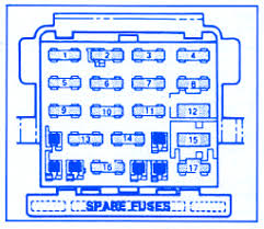 pontiac cyl fuse box block circuit breaker diagram pontiac 6000 6 cyl 1986 fuse box block circuit breaker diagram