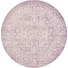 unique loom new classical purple 6 x 6 round rug