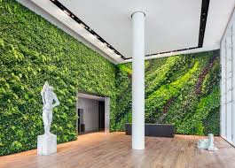 green wall office. Lobby Space In Foundry III, One Of The Office Buildings Facing Square S.F. Green Wall