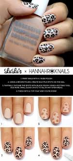 Easy Nail Design Steps Awesome Nail Art Patterns And Ideas Leopard Print Nail