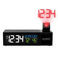 la crosse technology pop up bar projection alarm clock with usb charging port