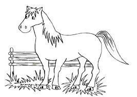 Computer Coloring Pages Free-Horse-Coloring-Pages – Kids Coloring Pages