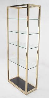 midcentury modern glass and metal etagere for sale at stdibs