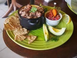 caribbean rice beans platter at garden of eden in santa elena de monteverde